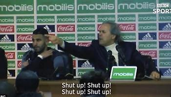 Απίστευτο «πέσιμο» του προπονητή της Αλγερίας σε δημοσιογράφο: «Σκάσε!» (video)