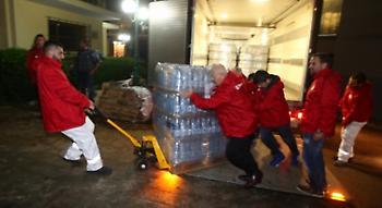 Στο πλευρό των πλημμυροπαθών ο Ολυμπιακός (pics)