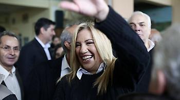 Η Φώφη Γεννηματά νικήτρια των εκλογών στην κεντροαριστερά