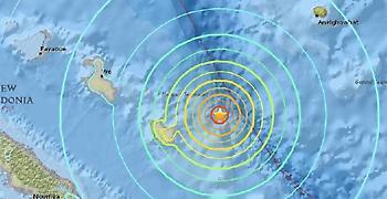 Νέα Καληδονία: Τρόμος αλλά όχι θύματα από τα 7 Ρίχτερ