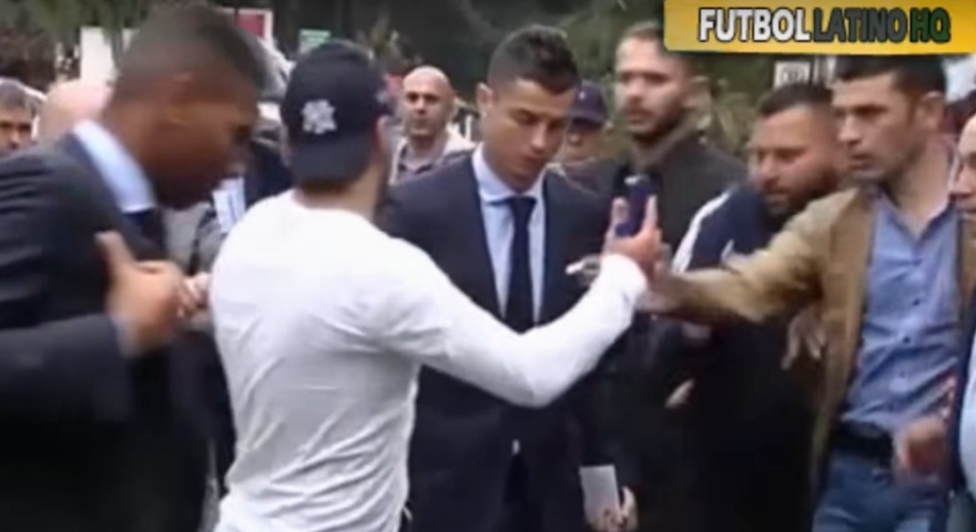 Το βίντεο με το «ντου» του Κύπριου που παρίστανε τον δημοσιογράφο στον Κριστιάνο Ρονάλντο!