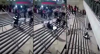 Άσχημη πτώση αστυνομικού από το άλογό του στο ντέρμπι Ατλέτικο-Ρεάλ (video)