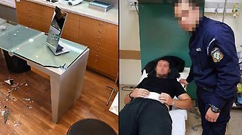 Γλυφάδα: Έτρεχε με το μαχαίρι στα χέρια αφού τραυμάτισε τους αστυνομικούς