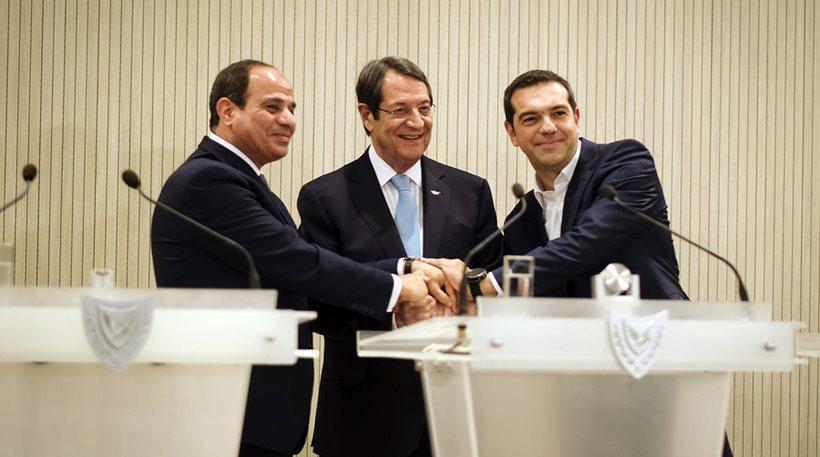 Kύπρος- Ελλάδα - Αίγυπτος θα οριοθετήσουν τα κοινά θαλάσσια σύνορα τους