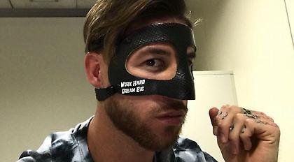 Ο Σέρχιο Ράμος παρουσίασε τη μάσκα του (pic)