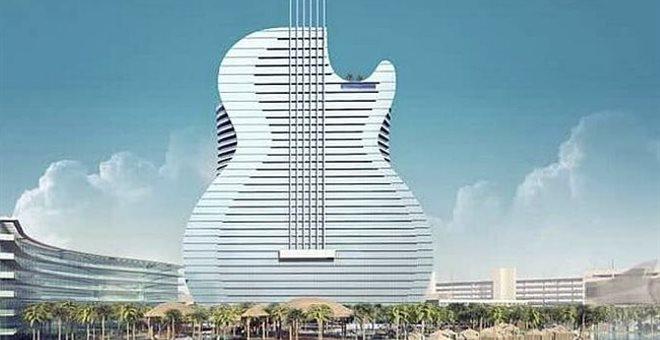 Ξενοδοχείο σε σχήμα ηλεκτρικής κιθάρας για «σόλο» και όχι μόνο διακοπές