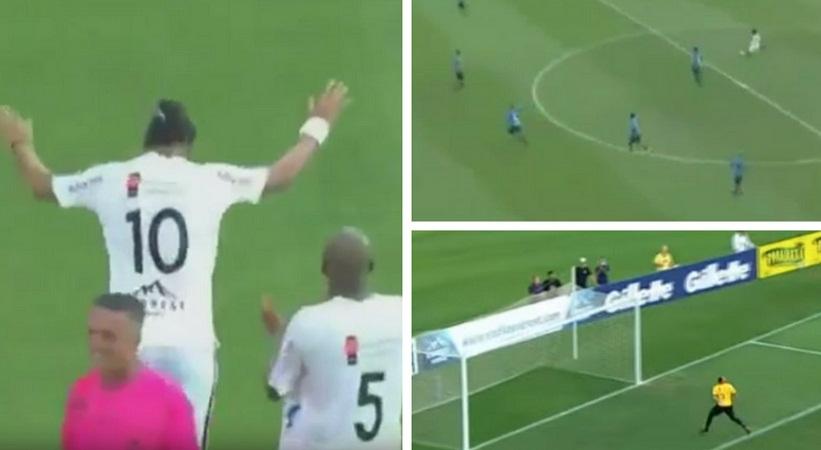 Τι κάνει ο Ροναλντίνιο! Γκολάρα από το κέντρο! (video)
