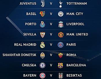 Η προϊστορία των ζευγαριών του Champions League