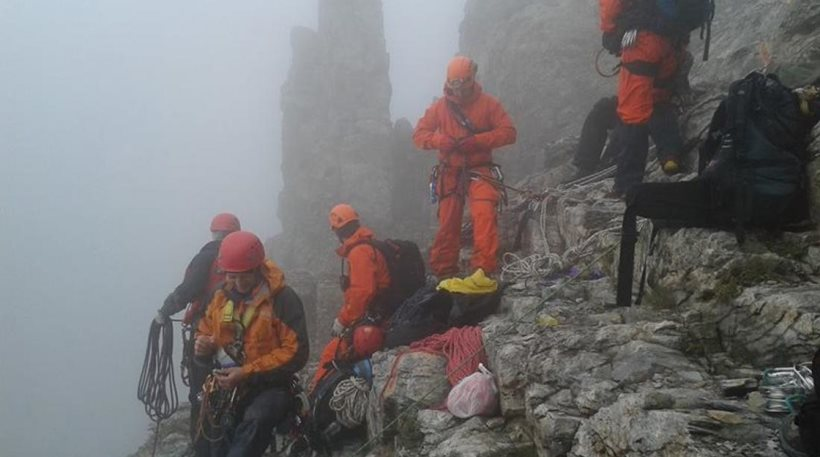 Επιχείρηση-θρίλερ για τη διάσωση δύο ορειβατών στον Όλυμπο