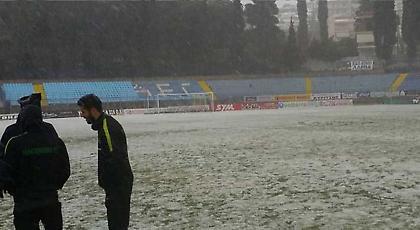 Παναθηναϊκός: «Για πατινάζ και χιονοπόλεμο το γήπεδο της Λαμίας» (pics)