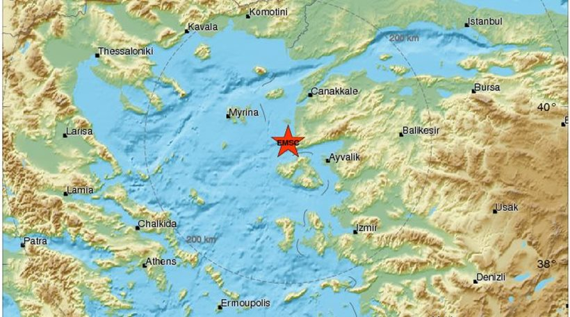 Ασθενής σεισμός 3,6 Ρίχτερ στη Λέσβο
