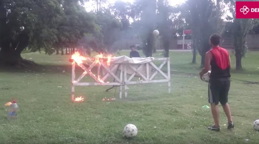 Με φωτιές και «καψώνια» η πιο απίθανη προπόνηση τερματοφυλάκων που έχει γίνει ποτέ! (video)
