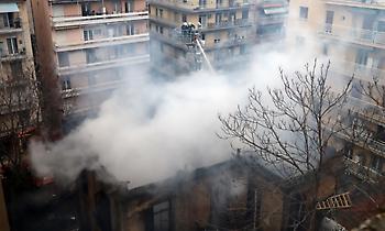 Βίντεο - Ντοκουμέντο από την πυρπόληση κτιρίου στο συλλαλητήριο