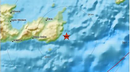 Ασθενής σεισμός 3,6 Ρίχτερ στην Κρήτη