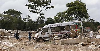 Κολομβία: 13 νεκροί από πτώση λεωφορείου μετά από κατολίσθηση