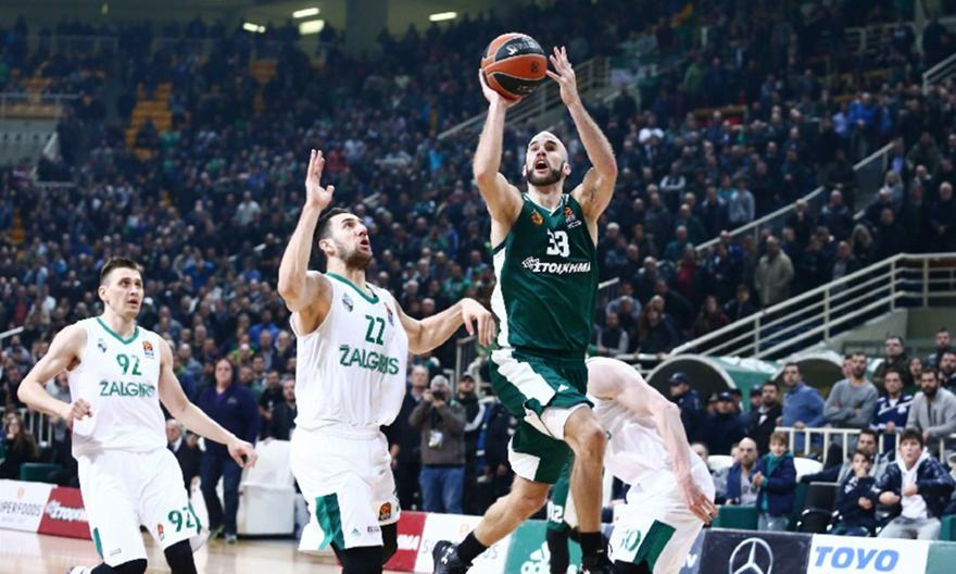 Euroleague  Παναθηναϊκός - Ζαλγκίρις 94-93  a214aed8334