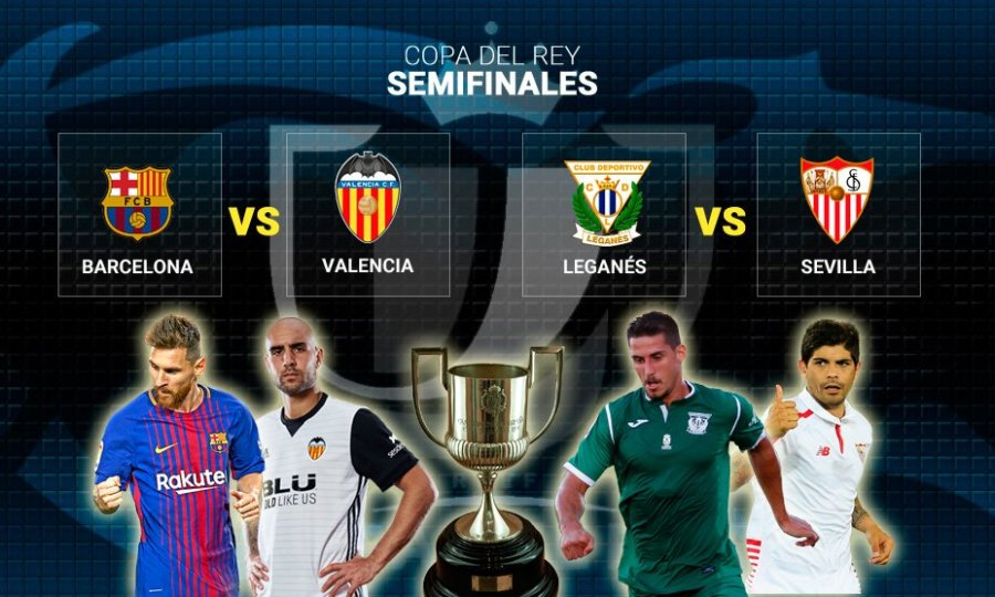 Μπαρτσελόνα-Βαλένθια στα ημιτελικά του Κυπέλλου Ισπανίας
