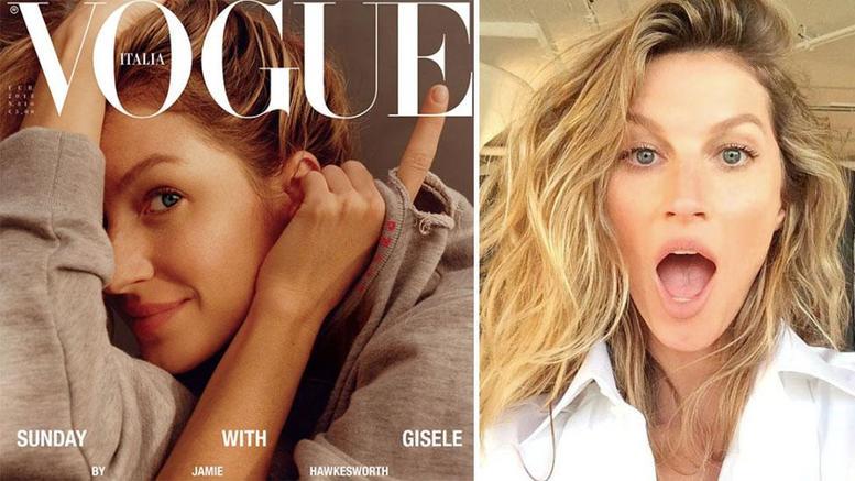 Η Ζιζέλ γράφει ιστορία στο πρώτο εξώφυλλο της Vogue χωρίς μακιγιάζ