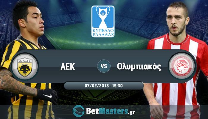 AEK – Ολυμπιακός: Με την πλάτη στον τοίχο οι «ερυθρόλευκοι»