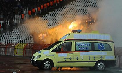 Οκτώ οπαδοί τραυματίστηκαν στο Ερυθρός Αστέρας-ΤΣΣΚΑ