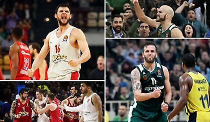 For the win: Ατσάλινος Ολυμπιακός, clutch Παναθηναϊκός (videos)