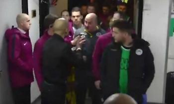 Τα πήρε ο Γκουαρντιόλα με τον προπονητή της Γουίγκαν! (video)