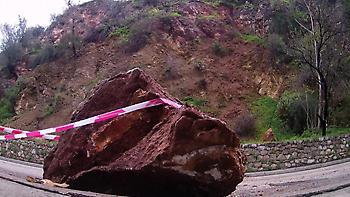 Κατολίσθηση βράχων στο κάστρο του Παλαμηδίου
