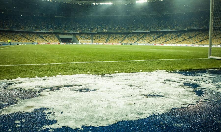 Προπονήθηκε με χιόνι η ΑΕΚ στο Κίεβο! (pics/video)