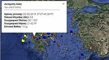 Νέος σεισμός 3,8 Ρίχτερ κοντά στην Πάτρα