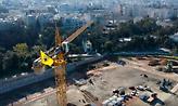 Πλάνα από drone στη Φιλαδέλφεια: Ο γερανός που δουλεύει με τη σημαία της ΑΕΚ! (video)