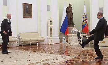 Ο Πούτιν παίζει μπάλα με θρύλους μετρώντας αντίστροφα για το Μουντιάλ (video)
