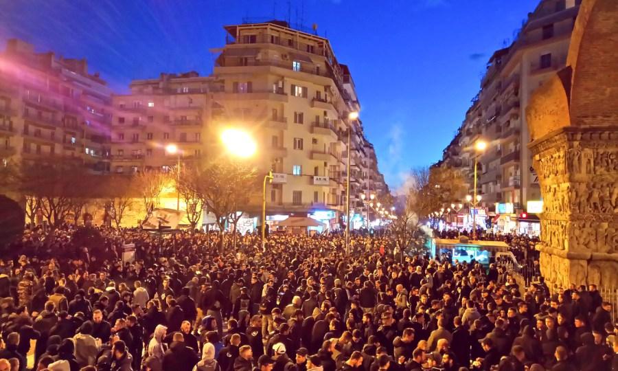 Το συλλαλητήριο των φίλων του ΠΑΟΚ (pics)