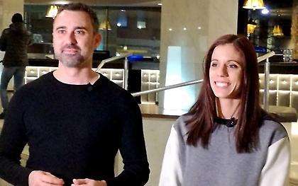 Κατερίνα Στεφανίδη και Γιώργος Καπουτζίδης στο No Finish Line της Αθήνας