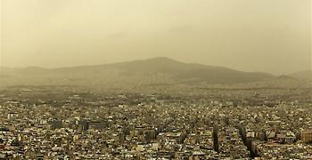 Υψηλές συγκεντρώσεις αιωρούμενων μικροσωματιδίων σκόνης στην ατμόσφαιρα