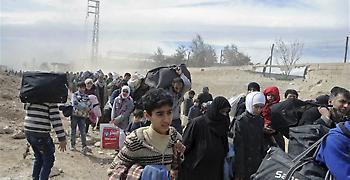 Τουλάχιστον 150.000 άμαχοι έχουν εγκαταλείψει την Αφρίν από την Τετάρτη