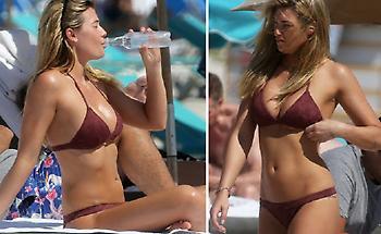Η Σαμάνθα Χουπς ξεσήκωσε τις παραλίες της Φλόριντα (pics)