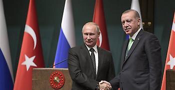 Ο Ερντογάν συνεχάρη τον Πούτιν για τη σαρωτική του νίκη στις εκλογές