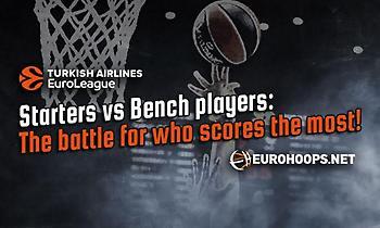 Ευρωλίγκα: Starters vs Bench, σχέση… εξάρτησης! Ποιοι σκοράρουν περισσότερο; (pics)