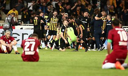 Το απόλυτο κοντράστ: Η… τρέλα της ΑΕΚ από το γκολ του Λάζαρου και η «ξενέρα» της ΑΕΛ! (pics)