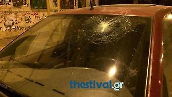 Έσπασαν καταστήματα και ΙΧ στην Καλαμαριά Θεσσαλονίκης