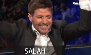 Τρελάθηκε στα γκολ του Σαλάχ ο Τζέραρντ (video)