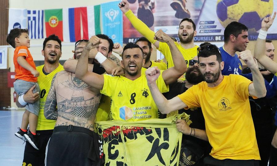Το «πάρτι» της ΑΕΚ για την πρόκριση στον τελικό του Challenge Cup (pics/video)