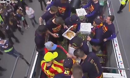Το έριξαν στην… πίτσα οι παίκτες της Μπαρτσελόνα! (pics)