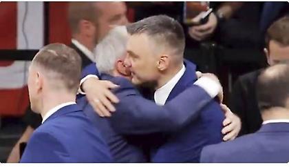 Η αγκαλιά... όλα τα λεφτά ανάμεσα σε Ομπράντοβιτς-Σάρας (video)