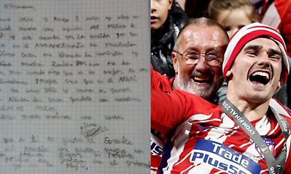 Το γράμμα του οκτάχρονου οπαδού στον Γκριεζμάν: «Σε παρακαλώ μείνε, θα είσαι πολύ χαρούμενος» (pic)