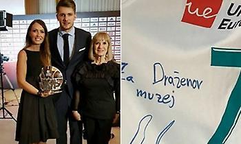Δώρισε τη φανέλα του Final 4 στο μουσείο του Ντράζεν Πέτροβιτς ο Ντόντσιτς (pic)