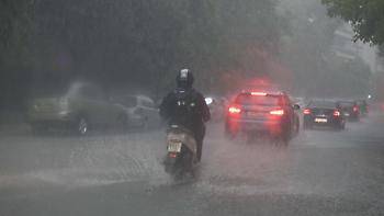 Έρχονται ισχυρές βροχές, καταιγίδες και χαλαζοπτώσεις