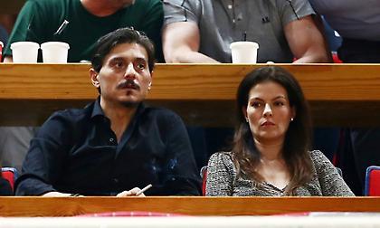 Στο ΟΑΚΑ ο Δ. Γιαννακόπουλος - Αγκαλιάστηκε με τον Θανάση και δάκρυσε