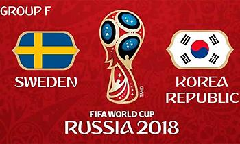 Live: Σουηδία-Νότια Κορέα 0-0