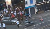 Παραλίγο σοβαρός τραυματισμός Άγγλου οπαδού από αυτοκίνητο (video)